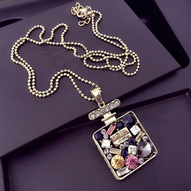 CC channel crystal CZ sweater long necklaces new 2016 korean brand jewelry/gros collier femme/neckless/colar/collana/halskette