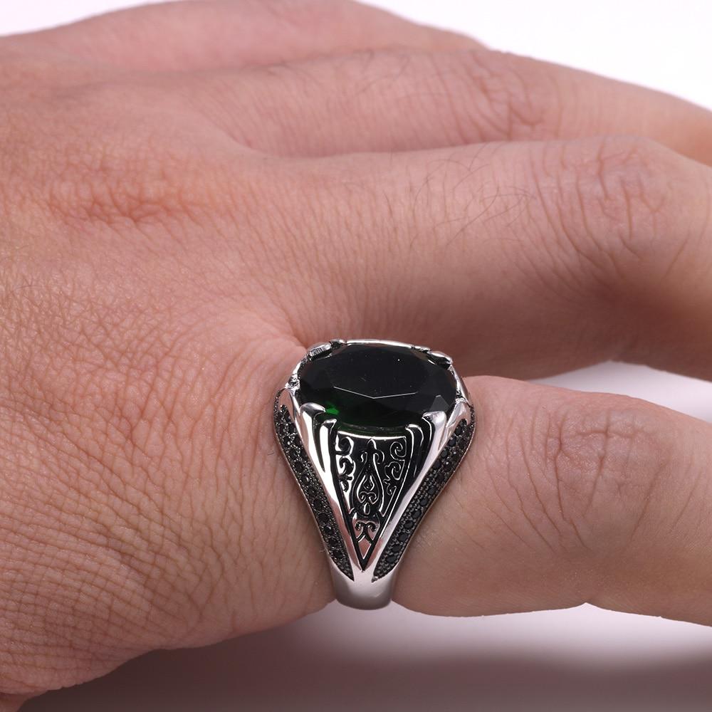 HTB1mB8xapzsK1Rjy1Xbq6xOaFXaw Luxury Turkish Jewellery For Men With Zircon Stone