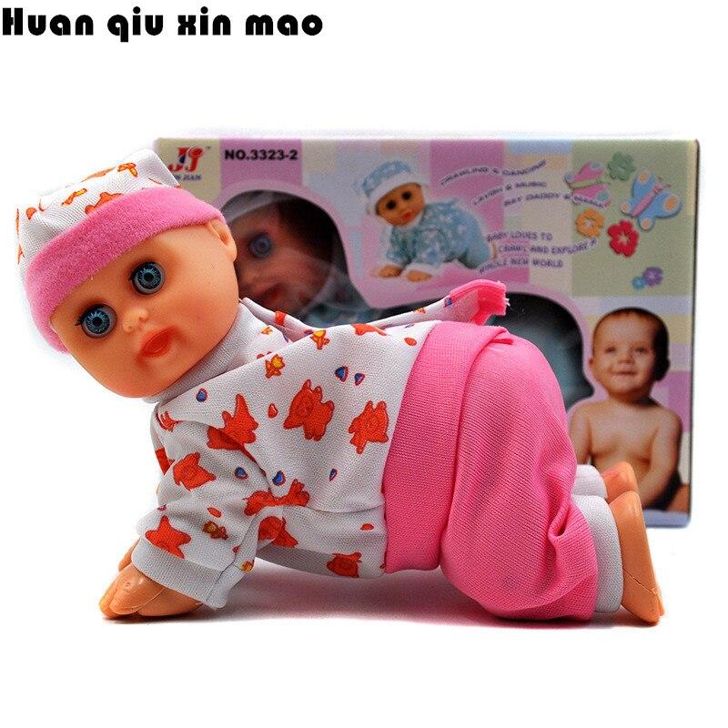 <font><b>Lovely</b></font> Baby Infant <font><b>Electric</b></font> <font><b>Music</b></font> <font><b>Crawling</b></font> Baby Talking <font><b>Singing</b></font> Dancing <font><b>Doll</b></font> Say Mama Daddy laugh Crawl <font><b>Doll</b></font> Early Learning <font><b>Toy</b></font>