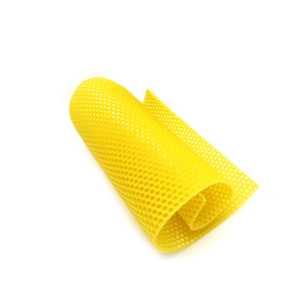 Newly 10pcs/30pcs Beeswax Sheets With Honeycomb Texture Bees Wax Coated Deep Foundation Flake Nest Base