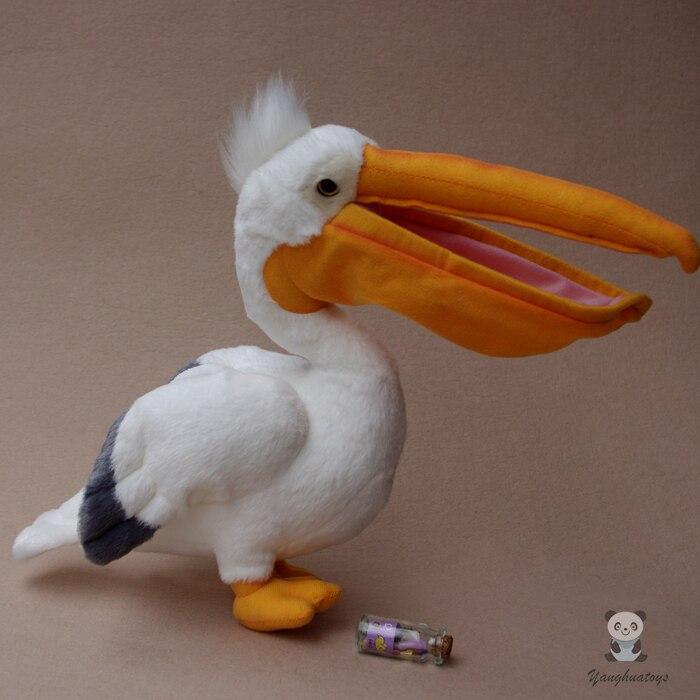 Peluche pélican poupée jouets Simulation faune Toucan jouet enfants Puzzle oiseaux poupées cadeau