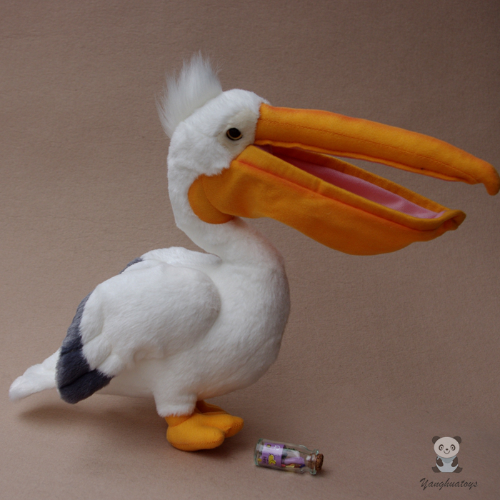 Plush Pelican Doll Toys Simulation Wildlife Toucan Toy Children Puzzle Birds Dolls Gift simulation rare birds puffin doll plush toy wild animals dolls ornaments children s toys gifts