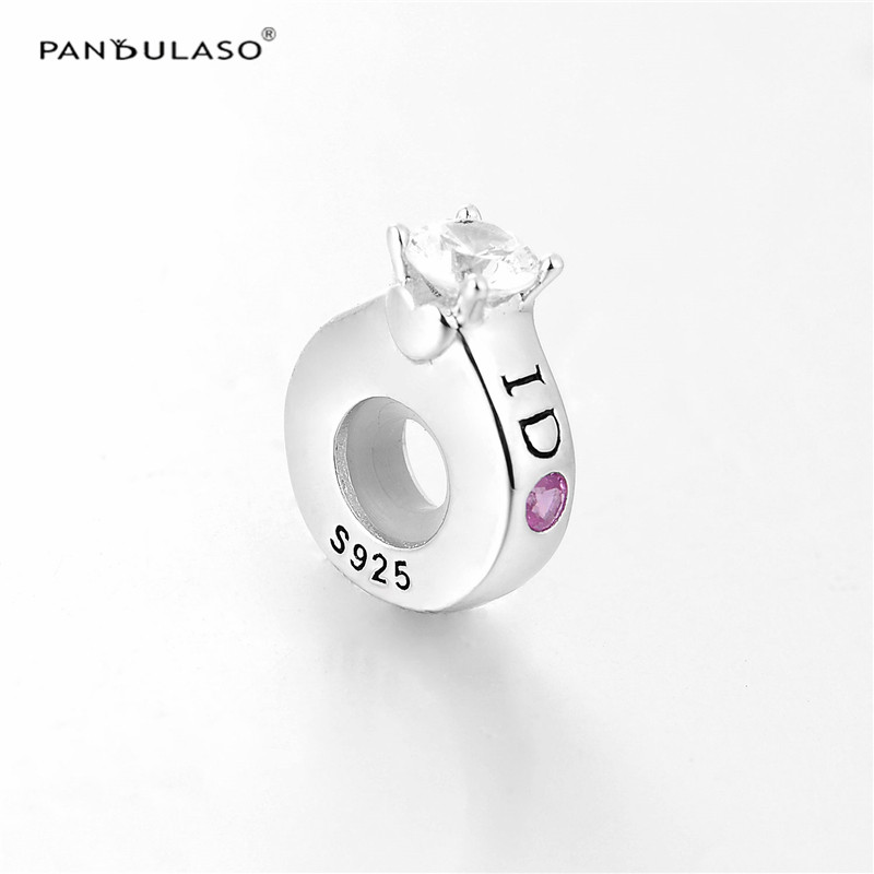 Pandulaso I Do Crystal Stopper Beads Fit Charms Silver 925 Original Bracelets Wedding Diy Charm For Jewelry Making In From Accessories