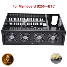 Ethereum mining case usb miner rig frame No transfer card B250 BTC Computer Case 8 graphics gtx 1080 1060 ZTC XMR