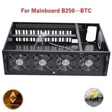 Ethereum mining case usb miner rig frame No transfer card B250 BTC Computer Case miner rig 8 graphics card gtx 1080 1060 ZTC XMR motherboard h81a btc v20 miner atx board lga1150 socket processor h81 mainboard support 6 graphics card for mining