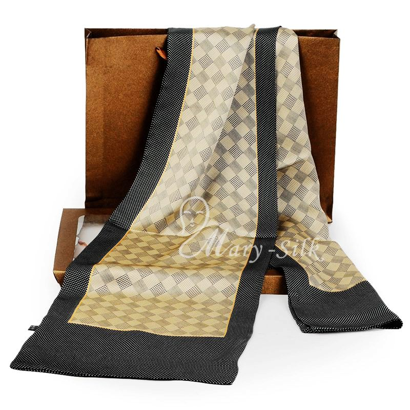 Fashion  Brand  Mens 100% Silk  Long  Scarf  Cravat  Scarives  Layer --- For Spring  Autumn Winter