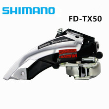 Shimano Tourney FD TX50 Front Derailleur 6/7/8 Speed Mountain Bike Clamp-On Front Derailleur 31.8mm / 34.9mm(China)