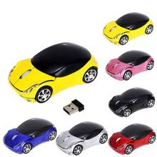 Fashion Model Mouse 2.4GHz 1200DPI Car Shape Wireless Optical Mouse USB Scroll Mice for Tablet Laptop Computer Gaming Mouse # ZC(China)