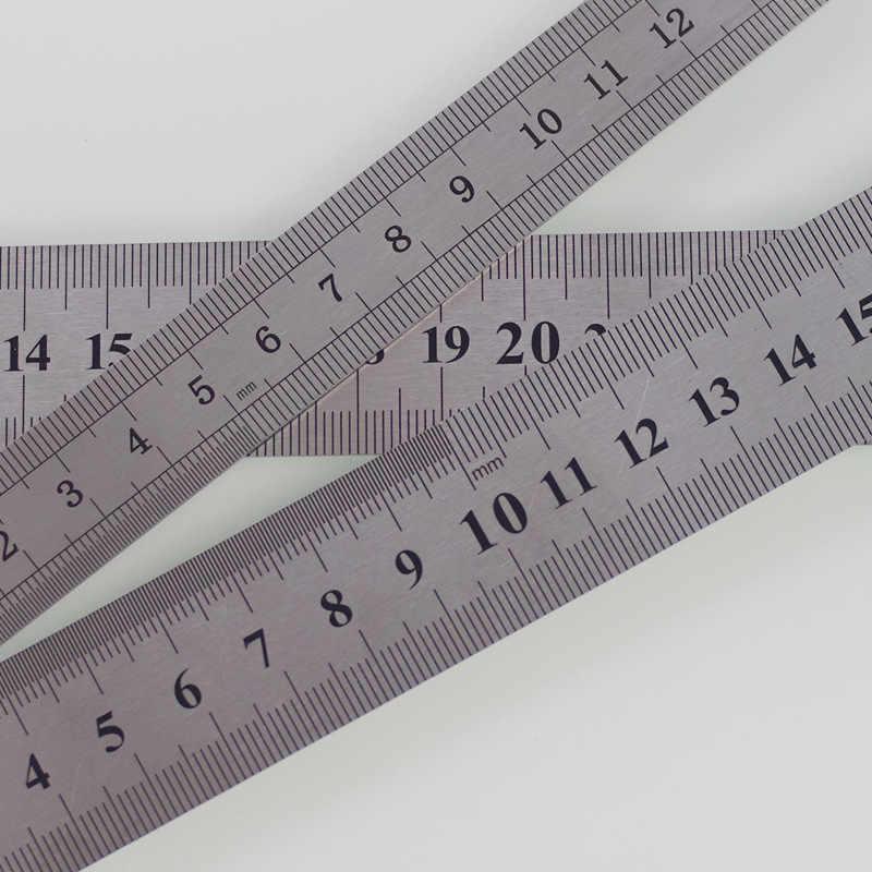 Accesorio de herramienta de costura ZOTOONE regla de Metal de acero inoxidable 15/20/30/40cm regla métrica precisión regla de doble cara D