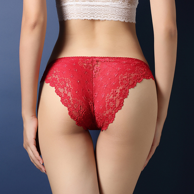 Briefs For Women Sexy Low Waist Full Lace Women Underwear Sexy Panties Hollow Pants Cute Solid Lingerie Male Underwear