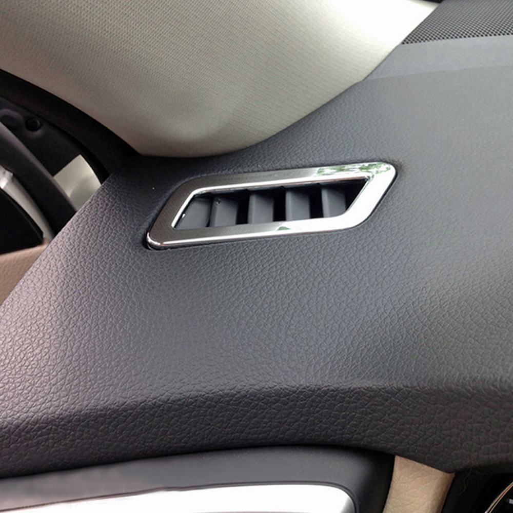 Car styling abs chrome air condition vent cover sticker for nissan new x trail xtrail