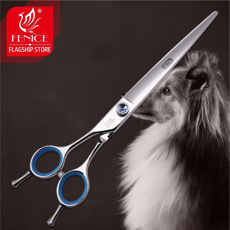 Fenice 7.5 / 8.0 colių Aukštos kokybės profesionalus JP440C naminių gyvūnėlių šunų plaukų gėlimas Žirklės kairėje, naudodami pjovimo žirkles