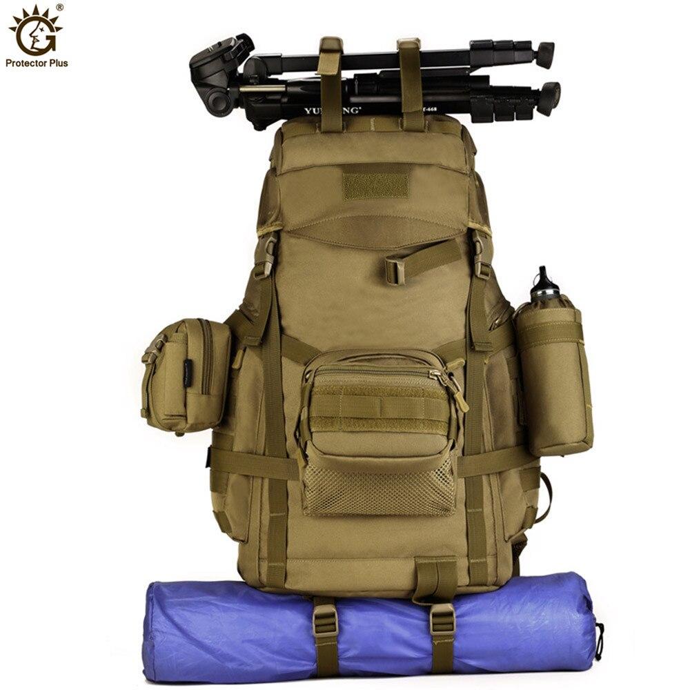60L Molle haute capacité hommes tactiques militaires sac à dos femmes imperméable Camp randonnée sac sacs à dos sacs à dos armée sac G120-in Sacs à dos from Baggages et sacs    2