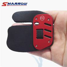 Archery Finger Guard Cow Leather Aluminum Tab 1 Pc Protection Pad Glove