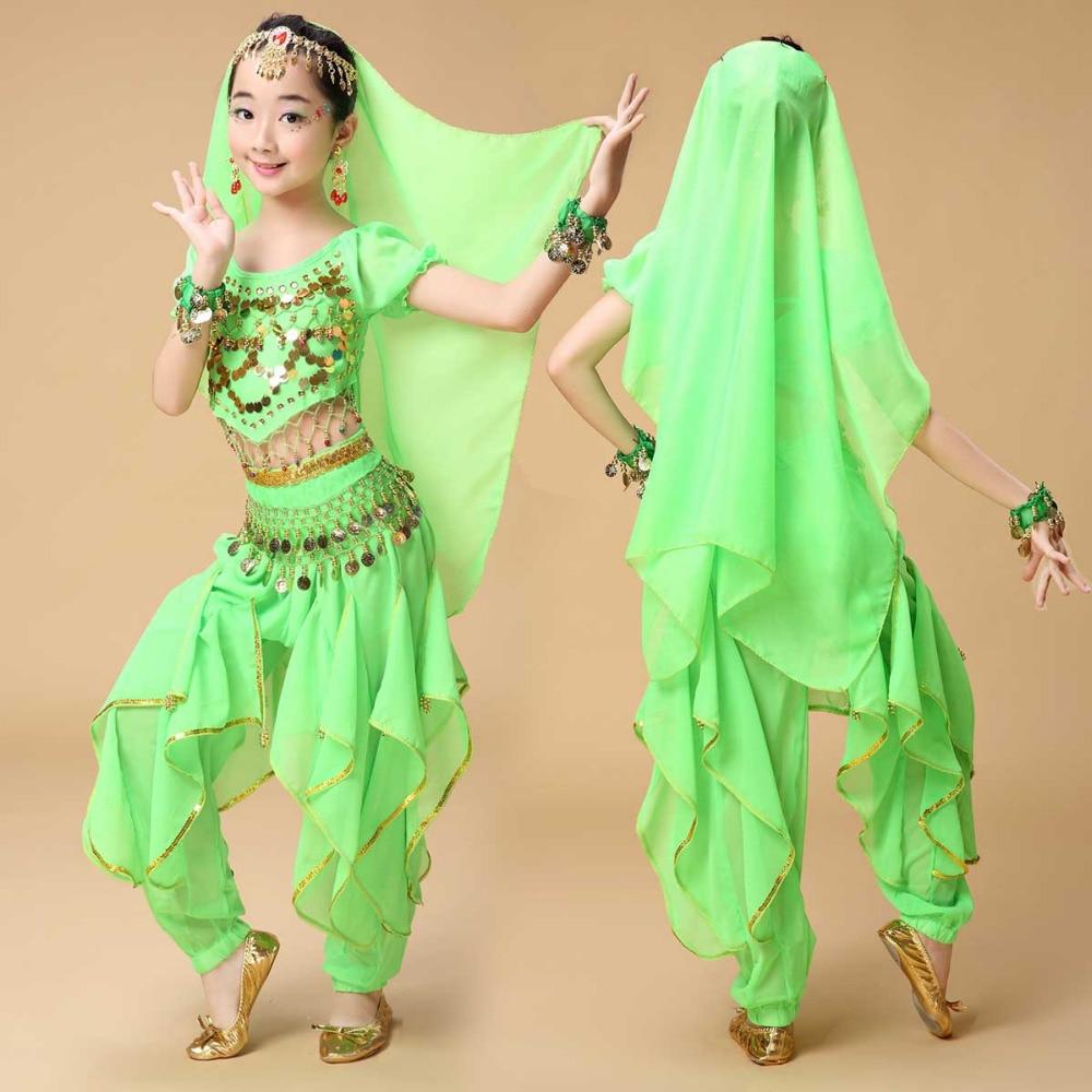 2017 nove Sexy Otroške kostume za trebuh plesa za dekleta obleke Squin Design Ballroom Dancewear Veleprodaja otroških plesalcev Top Hlače