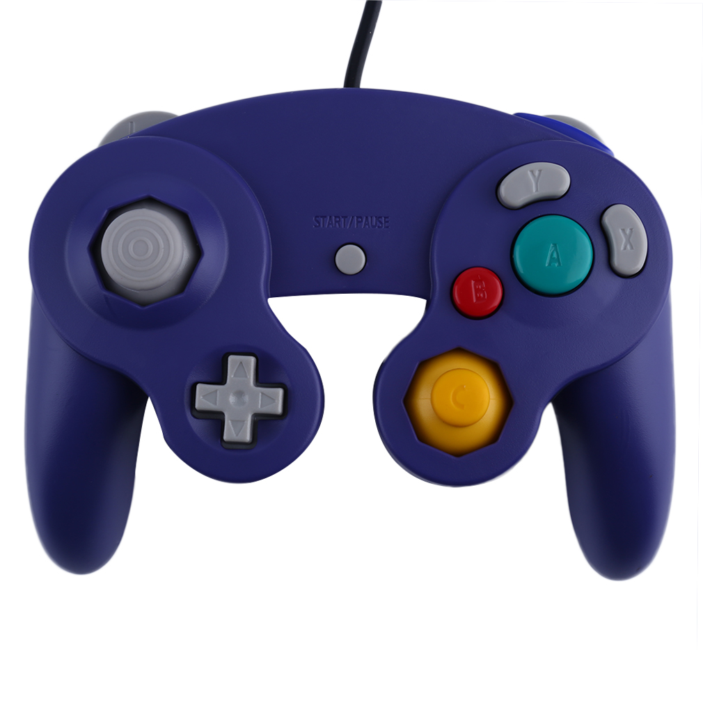 2016 Newest Game Controller Gamepad Joystick for Nintendo for GameCube For Wii Platinum Purple wireless controller gamepad joystick for wii u pro