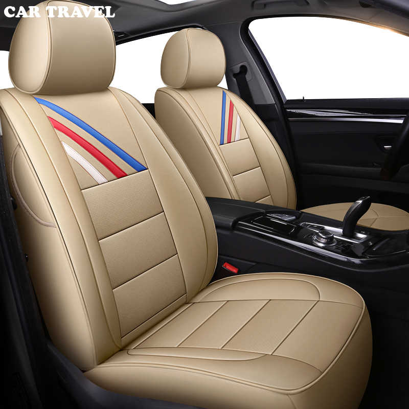 FULL LEATHER LOOK CAR SEAT COVER SET BLACK 96-03 BMW E39 5 series