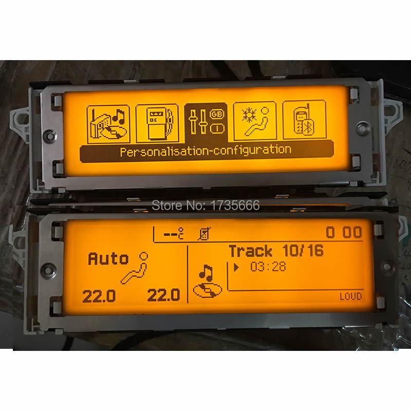 For Peugeot 407 408 307 Sega triumph C5 12 pin Monitor display screen USB Bluetooth screen English French yellow