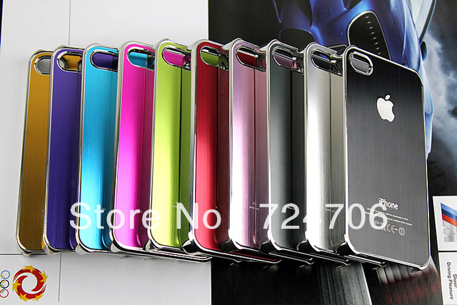 10pc/lot case For iphone 4 4S metal aluminium case, free shipping
