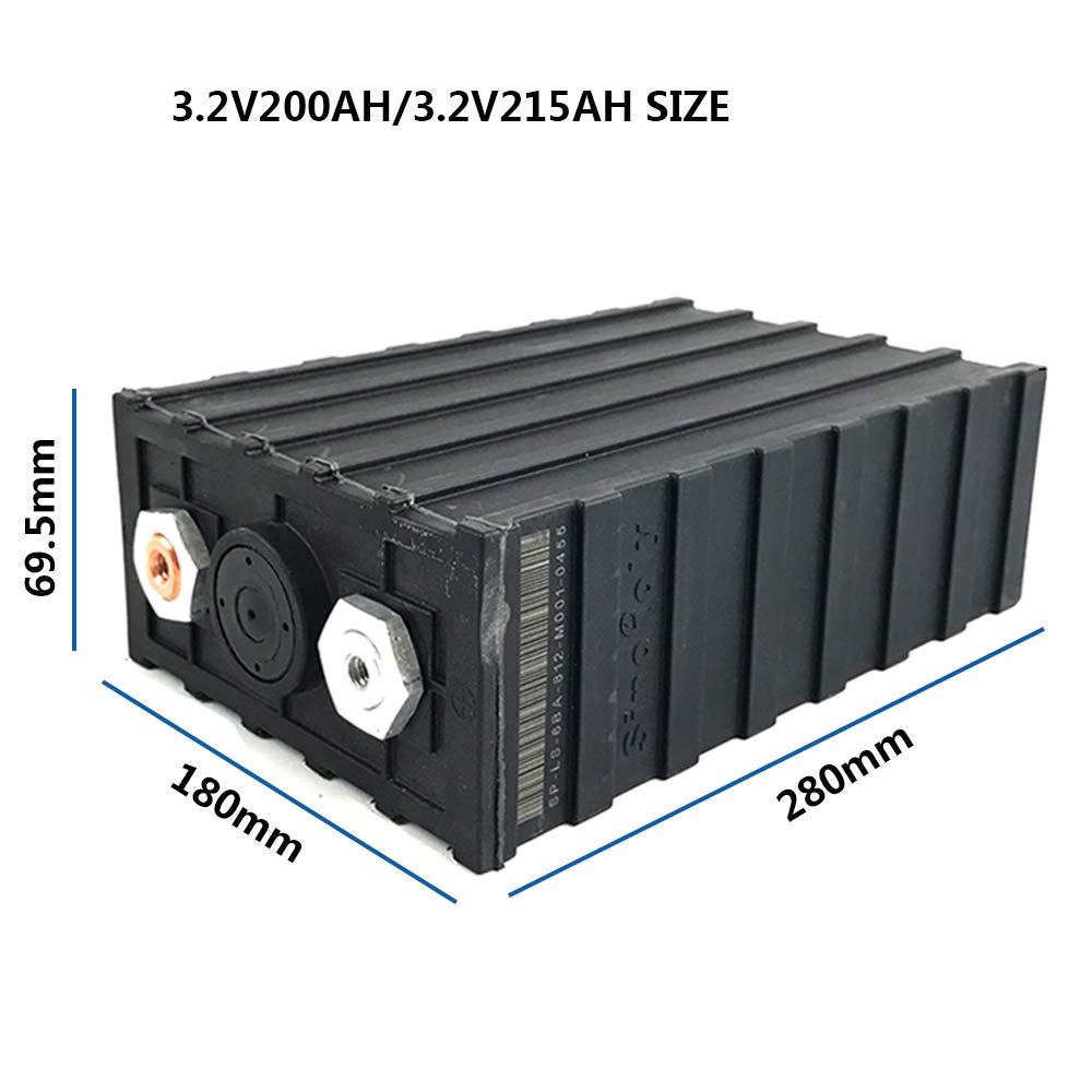 Sinopoly 3.2V 200AH RUIXU LiFePO4 Single Cell Battery With Plastic Case,for RV, Solar, Marine, and Off-Grid
