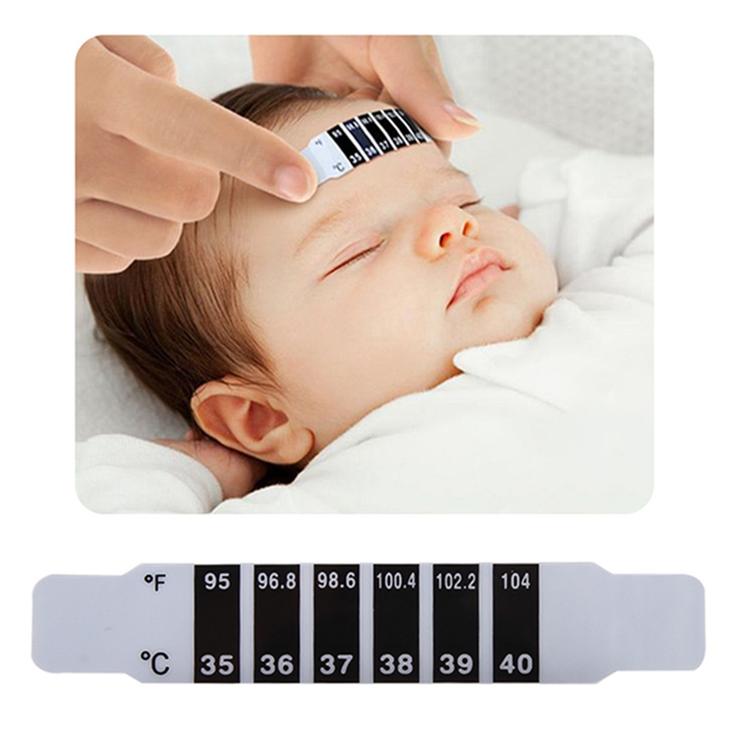 2 Teile/los Stirn Kopf Streifen Thermometer Fieber Körper Baby Kind Kid Erwachsene Überprüfen Test Temperatur Überwachung Sicher Ungiftig Kunden Zuerst