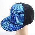 НОВЫЙ 2014 Мода Блестками пирамиды заклепки cap Мужская Snapback Caps Бейсболки Casquette шляпа Хип-Хоп Кепка Спорта На Открытом Воздухе Cap