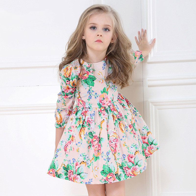 2017 Summer Baby Kids Party Birthday Flower Dress For School Girls Cotton Frocks Design for Age 2 3 4 5 6 7 8 9 10T Years Old платье для девочек unbrand baby v 2 6 kids dress