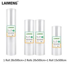 LAIMENG 4 Rolls/lot Food Saver Bags Rolls Vacuum Bags For Vacuum Sealer Packer Storage Bags For Sous Vide 15+20+28cm*500cm R248(China)