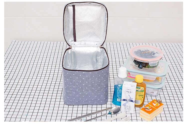 8L bolsa enfriadora Portátil Bolsa de picnic térmica bolso rectangular aislado hielo fresco comida fresca bebida de leche bolsa de aislamiento