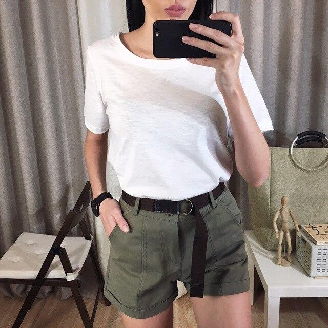 Precio 50% buena textura 100% de garantía de satisfacción Para Formal Cortos Safari Estilo Pantalones Mooirue De Mujer ...