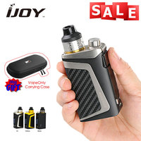 IJOY RDTA BOX Mini Full Kit 100W 2600mAh built in Battery 6ml with Free Gifts Vapeonly Leather Carrying Case e Cigs Vape