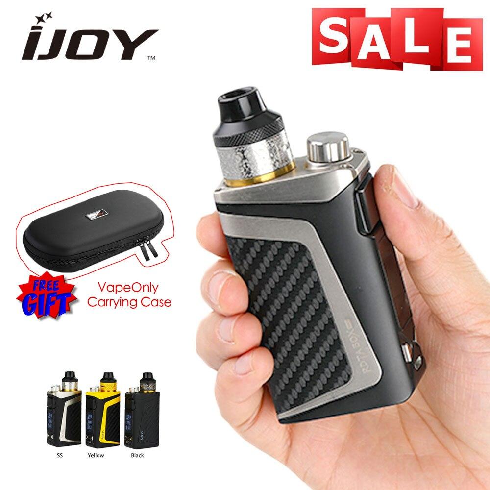 IJOY RDTA boîte Mini Kit complet 100 W 2600 mAh batterie intégrée 6 ml avec cadeaux gratuits Vapeonly étui de transport en cuir e-cigs Vape