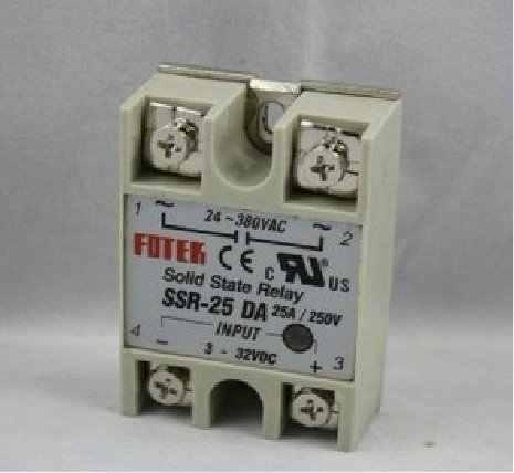 Бесплатная доставка, 3 шт./лот SSR-25DA 25A SSR одно-фазный SSR твердотельные реле постоянного тока