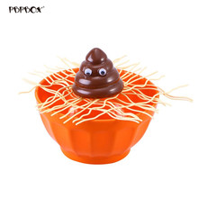 Creative Shit Fall into The Bowl Family Board Game Funny Desktop Balance Toys Interactive Party Game (Random Color of Bowl)(China)