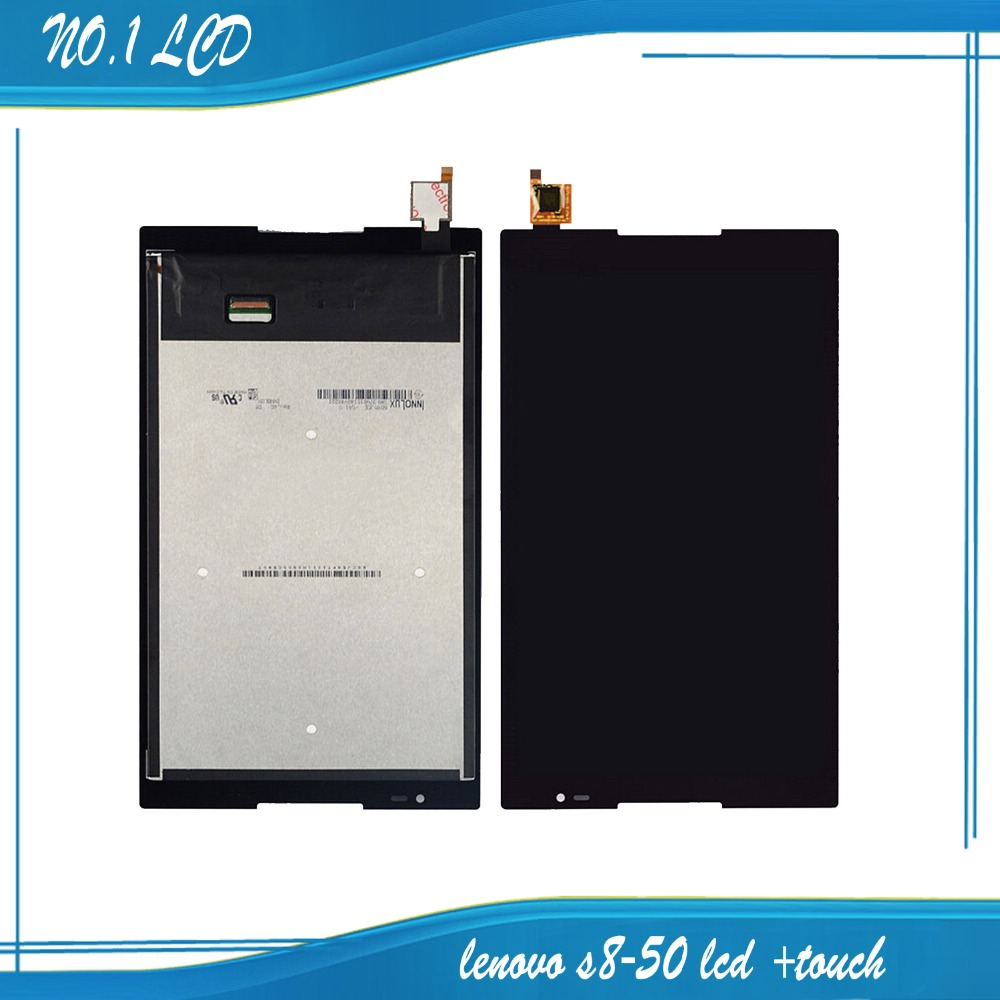 ФОТО For Levono Tab 8 S8-50 S8-50F S8-50L S8-50LC Tablet Outter LCD Display Touch Screen Digitizer Glass Panel Assembly Free shipping