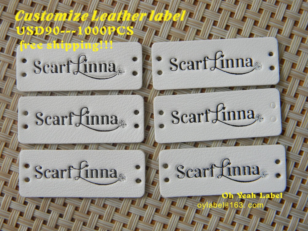 Custom made high quality leather label leather patch pu patch main label leather label