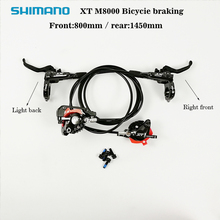 Shimano Deore XT M8000 Hydraulic Disk Brake MTB Front & Rear Set 800mm /1450mm Customized by Racework shimano deore xt m8000bicycle brake hydraulic disk brake mtb front