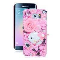 New Hot Cute Hello Kitty S6 Edge Case Crystal Case For Samsung Galaxy S6 Edge Phone