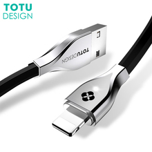 TOTU LED Light USB Data Cable For Lightning Fast Charging Wire Cables For iPhone X 8 7 6 6S Plus iPad Mobile Phone Charger Cord