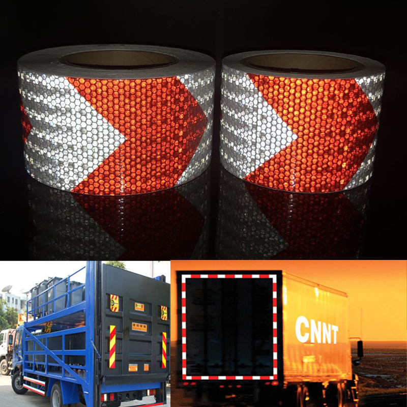 75mmx5m  High Quality Safety Reflective Warning Tape Conspicuity Film Sticker For Car