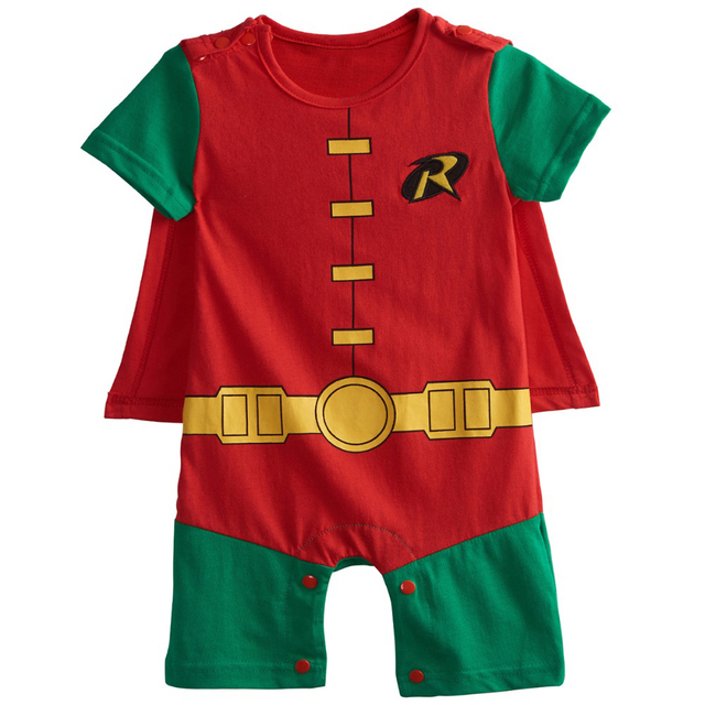 Baby Boys Robin Rompers Infant Costume Jumpsuit Short Sleeve Size 0-24M