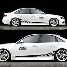 45CM * 15CM 1 paire WRC voiture autocollant BK KK réfléchissant argent matériel 1 paire Gird modèle Auto véhicule carrosserie décoration autocollants