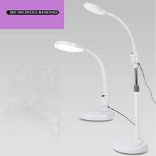 8 times magnifying glass tattoo embroidered eyebrow super bright cold light without shadow led floor lamp