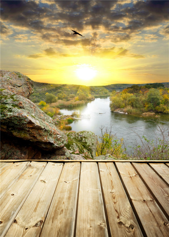 Mountain Photo Backdrops Water Studio Props Wooden Floor Photography Background Vinyl 5x7FT or 3x5FT Jieqx438 retro background sheet music photo studio vintage photography backdrops brick wall photo props vinyl 5x7ft or 3x5ft jiegq201