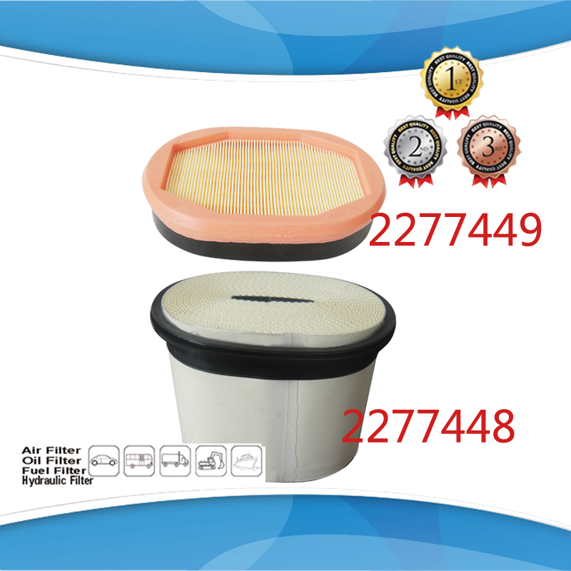 CA4996 2277449 Channel Flow Air Element Air Filter 227 7449 2277449 227 7448 2277448 Kit for