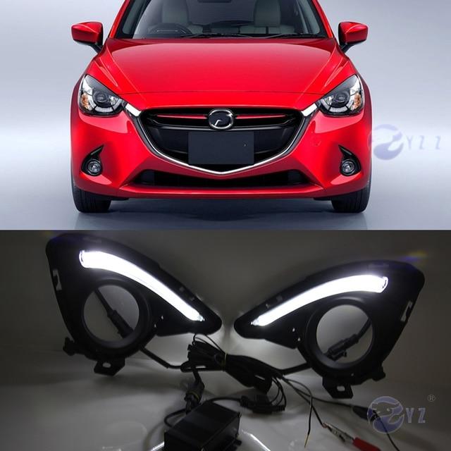 מאוד Car Flashing 1 Set DRL For Mazda 2 Mazda2 Demio 2015 2016 LED DRL GT-05