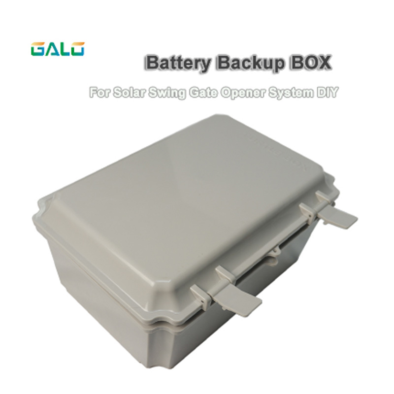 GALO Solar System DIY Use Swing Gate Opener Actuator Motor Gate Controller Backup Battery Box