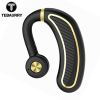 TEBAURRY Comfortable Business Bluetooth Headphone With Mic 300mAh Bluetooth Earphone Wireless Headset for phone iphone xiaomi
