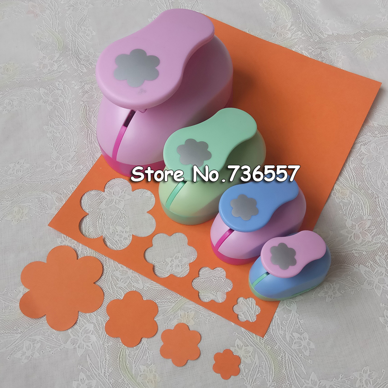 1pc Six Petal Shape Craft Punch Set Scrapbooking School Paper Puncher Eva Hole Punch 7.5cm 4.7cm 3.5cm 2.4cm Free Shipping