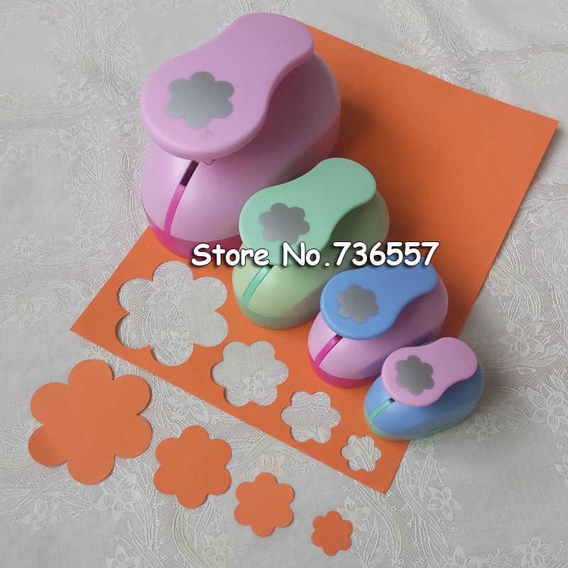 4 Uds (7,5 cm 4,7 cm 3,5 cm 2,4 cm) Seis forma de pétalo de un conjunto Scrapbooking la escuela perforador de papel troqueladora para goma eva envío gratis